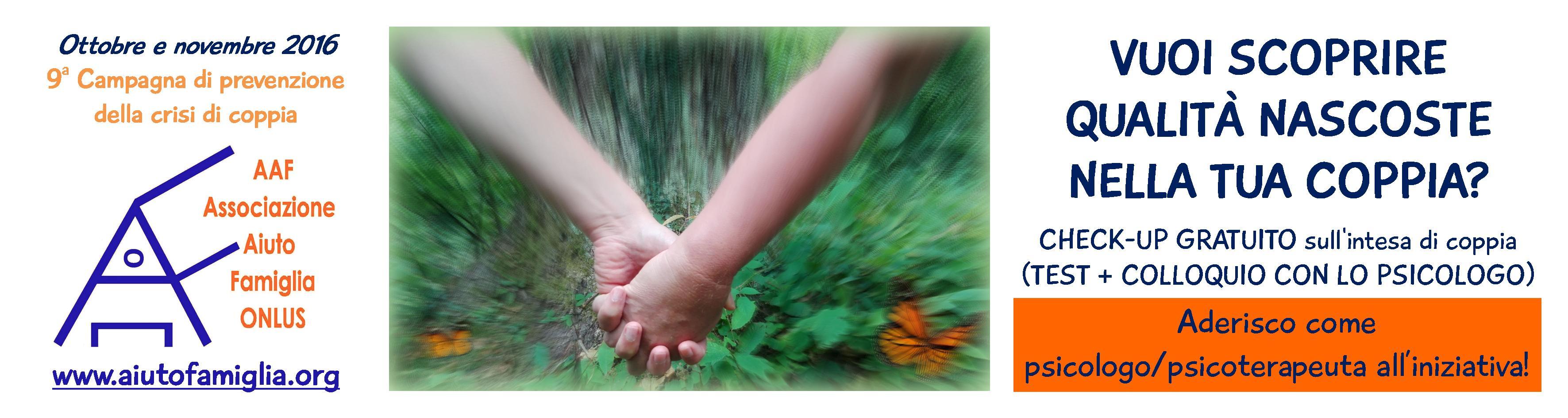 Campagna per la prevenzione della crisi di coppia a cura di AAF